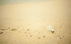 Картинка песок, пляж, лампочка, макро, свет, берег, лампа, песчинки, мелочь, macro beach
