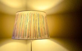 Картинка свет, лампа, торшер, абажур