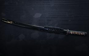 Обои меч, катана, самурай