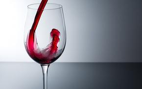 Обои Вино, наливается, бокал