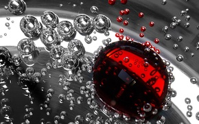 Картинка красный, жидкость, Пузыри