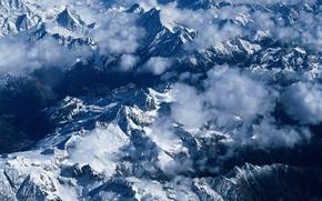 Обои Облака, Горы, Снег