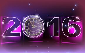 Картинка праздник, часы, новый год
