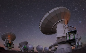Картинка небо, космос, ночь, телескоп