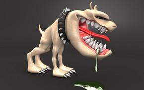 Картинка Собака, слюна, ошейник