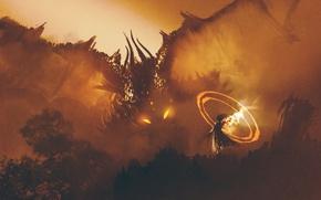 Картинка Дракон, Магия, Art, Фантастика
