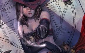 Обои пентаграмма, магия, кукла, девушка, ведьма, колдовство, фентези, вуду, круг