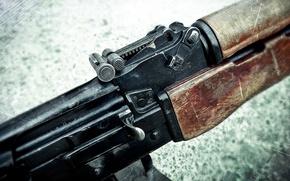 Обои оружие, макро, затвор, магазин, рпк, ручной, калашникова, пулемет, прицел