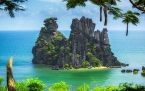 Обои новая каледония, тихий океан, скалы