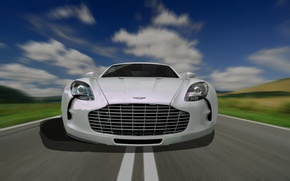 Картинка car, aston martin, road, speed