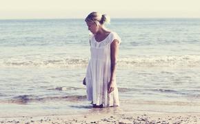 Обои девушка, море, лето, настроение