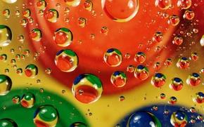 Картинка вода, пузырьки, цвет, масло, воздух, пятно