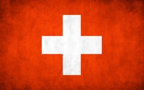 Обои флаг, Швейцария, текстуры