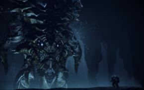 Картинка Робот, Под водой, Левифан, Масс Эффект 3, ДЛС