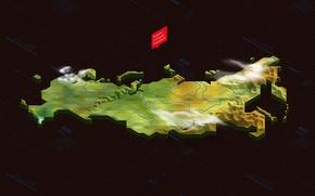 Картинка карта, Россия, изометрия