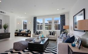 Картинка дизайн, стиль, стол, диван, ковер, мебель, вилла, свечи, окно, картины, шторы, Design, гостиная, декор, светильники, …
