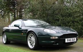 Картинка авто, Aston Martin, тёмно-зелёный