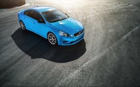 Картинка Concept, Volvo, трек, синяя, S60, Polestar