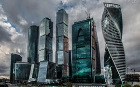 Картинка стекло, здание, Москва, небоскрёбы, Москва-сити