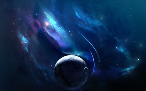 Обои Planets, Планеты, Nebulae, Космос, Space, Spacecrafts, Stars