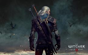Картинка Ведьмак, The Witcher, Геральт, CD Projekt RED, The Witcher 3: Wild Hunt, Анджей Сапковский, Geralt, ...
