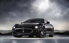Обои Maserati, GranTurismo-S, черный