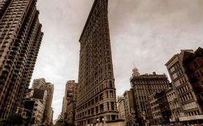 Обои улица, небоскребы, фото, Нью-Йорк, город, США