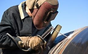Картинка welder, personal protective equipment, laborer, worker