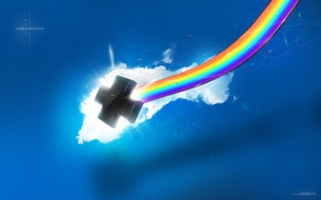 Картинка черный, крест, радура