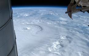Картинка облака, стихия, Земля, ураган, МКС, Bopha