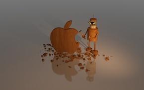 Картинка дерево, Apple, mac, logo