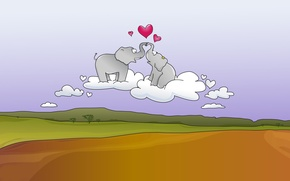 Картинка радость, слоны, креатив, настроение, дорога, любовь