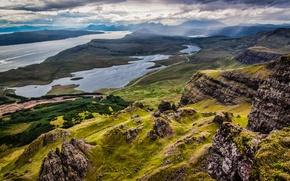 Картинка пейзаж, горы, природа, озера, панорамма