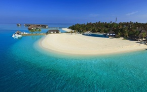 Картинка пляж, океан, курорт, beach, beautiful, Maldives