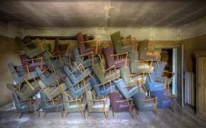 Обои комната, мебель, кресла
