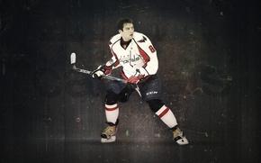 Картинка клюшка, хоккеист, коньки, Александр, Washington Capitals, Овечкин