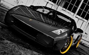 Картинка машина, черный, Lamborghini, 360 three sixty forged, Lamborghini Gallardo