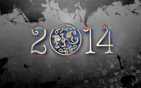 Картинка Новый год, Текстура, Метал, Николай Черных, 2014