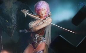Картинка девушка, меч, Lightning, Square Enix, Lightning Returns: Final Fantasy XIII