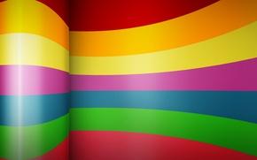 Картинка полосы, цвет, изгиб