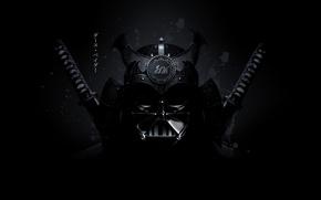 Картинка самурай, star wars, Darth Vader, рендер