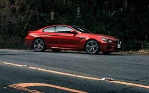 Картинка авто, тюнинг, бмв, купе, red, bmw m6