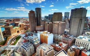 Картинка дома, небоскребы, США, Бостон, вид сверху, Boston