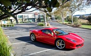 Картинка машина, Феррари, Ferrari, суперкар, 458, Italia
