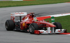Картинка формула 1, ferrari, феррари, formula 1, 2011, Fernando Alonso, Malaysian GP, Фернандо Алонсо, Sepang, Ferrari …