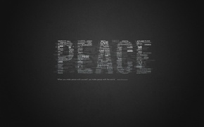 Картинка мир, слова, peace, цитата, выражение, words