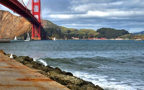 Картинка Сан-Франциско, bridge, San Francisco, Golden Gate, мост Золотые ворота