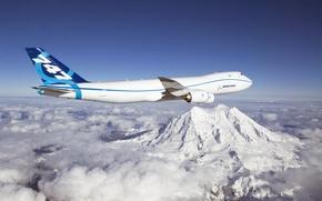 Обои New series, First Flight, Boeing 747-8 Freighter