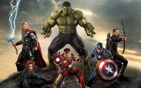 Обои Age, Hawkeye, Jeremy Renner, Avengers, Boys, The, Guns, Film, Team, Warriors, Super, Iron Man, Chris ...