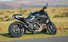 Картинка dark, Ducati, супербайк, Ducati Diavel